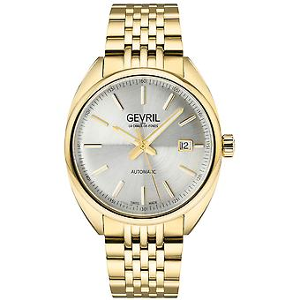 Gevril Men's Five Points Silver Dial Yellow Gold Watch