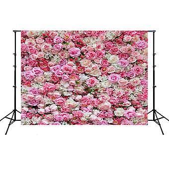 2.1m x 1.5m Flower Wall Simulation Rose Wedding Party Arrangement 3D Photography Background Cloth(H2)