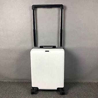 Exquisita gran palanca pc rolling equipaje Spinner maleta de viaje llevar en el carro