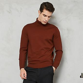 Turtleneck Sweater Men Autumn Winter New Thick Warm Slim Fit Solid Color