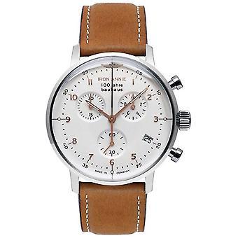 Iron Annie Bauhaus | Chrono | White Dial | Brown Leather 5096-4 Watch