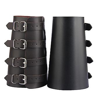 Pu Leather Arm Armor Unisex Gauntlet Wristband Wide Bracer Arm Protector