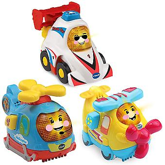 VTech Toot-Toot Drivers Baby Car Toys, 3 Pack Including Helicopter Toy, Toy Car & Aeroplane Toy