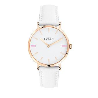 Furla Kvinder's Giada White Dial Kalveskind Læder Watch
