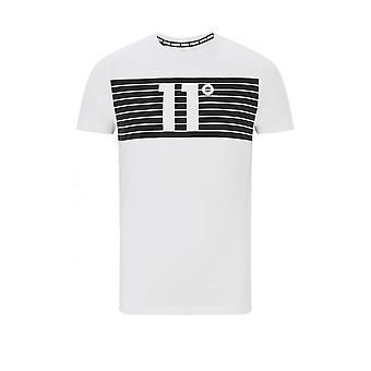11 Degrees 11d Degrees Mens Placment Stripe Logo T Shirt White
