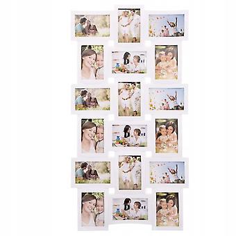 Kader voor 18 foto's wit