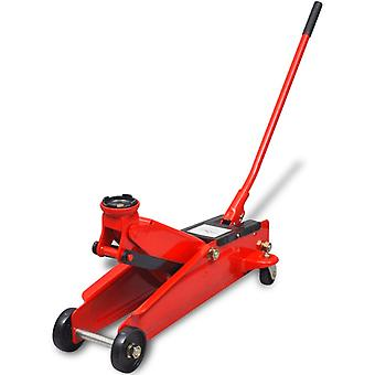 Hydraulic jack with low holder 3 tons red