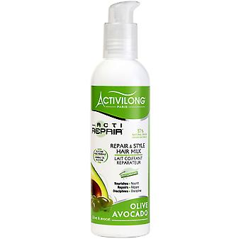 Activilong Actirepair Reparation och Stil Hår Mjölk 240 ml - 8,2 fl.oz.