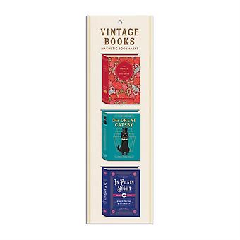 Vintage Books Shaped Magnetic Bookmarks by Created by Galison