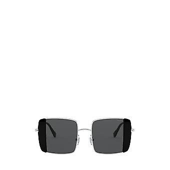 Miu Miu MU 56VS plata / negro gafas de sol femeninas