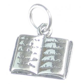 Book Sterling Silver Charm .925 X 1 Books Writer Author Reading Charms - 3667