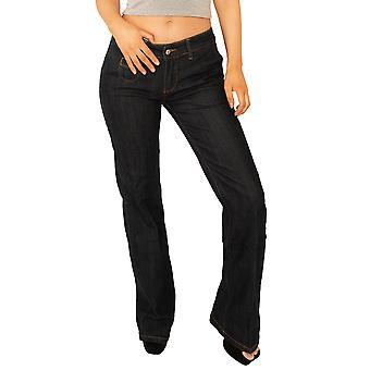 Low Rise Bootcut Jeans - Indigo