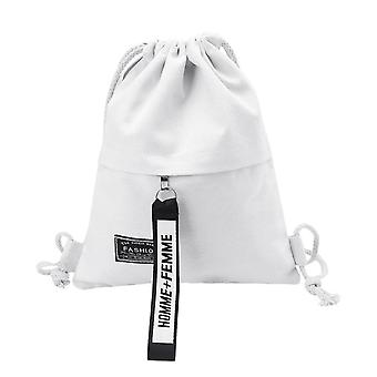 Drawstring Canvas Backpack-rucksack Pouch