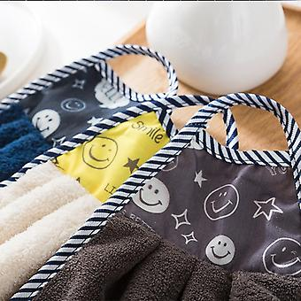 2pcs microfiber πετσέτα χεριών που κρεμά το μαντήλι κουζινών για το λουτρό χεριών