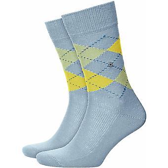 Burlington Preston Socks - Light Steel/Green
