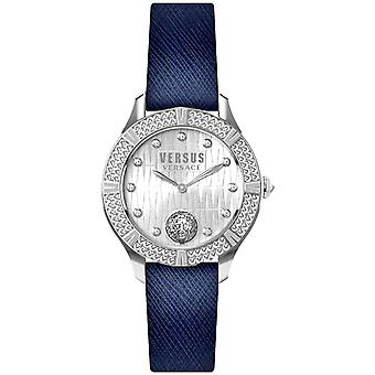 Versus by Versace Women's Watch Wristwatch Canton Rouad VSP261219 Leather