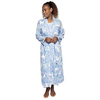 Cyberjammies Nora Rose Elizabeth 1526 Women's Blue Floral Cotton Robe