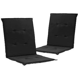 vidaXL garden chair edition 2 pezzi. nero 100 x 50 x 3 cm