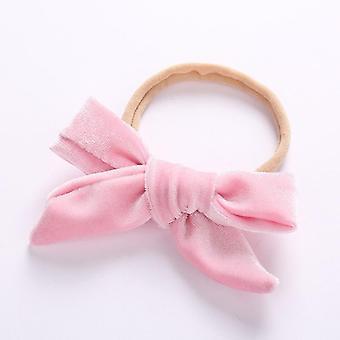 Baby Headband Velvet Bow Headband Thin Nylon Headbands Soft Hair Band