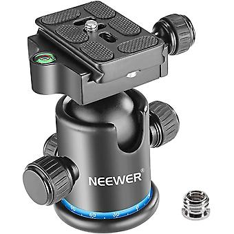 DZK Pro Metal Tripod Ball Head 360 Degree Rotating Panoramic with 1/4 inch Quick Shoe Plate,