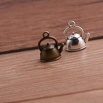 Kettle Charms Teapot Pendant Two Color Diy Retro Jewelry