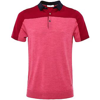 Thomas Maine Merino Wool Colour Block Polo Shirt