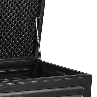 Pudełko do przechowywania w ogrodzie - 143x57,5x51 cm - 390 litrów - czarny