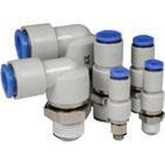 SMC adaptateur rotatif, R 1/4 mâle, poussoir en 8 Mm