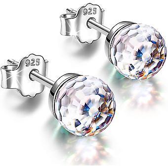 HanFei Ohrringe Geschenke fr Frauen, Fantastic World Series Ohrstecker, 925 Sterling Silber, 6mm