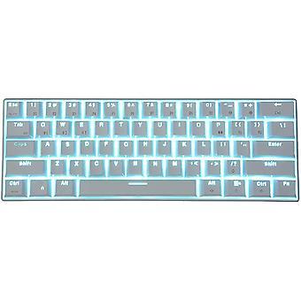 RK61 Tastatur - weiße mechanische Tastatur, Desktop-Gaming-Tastatur für Handys und Tablets, Computerteile(weiß)
