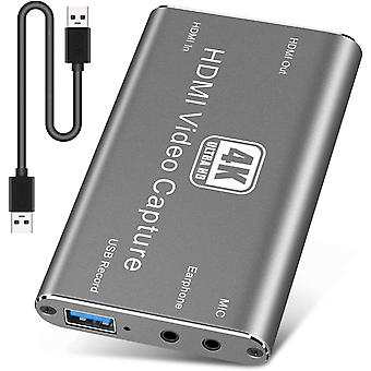 FengChun HDMI Video Game Capture Card, Game Capture Card, 4K 60FPS Durchgang HDMI Capture Card mit