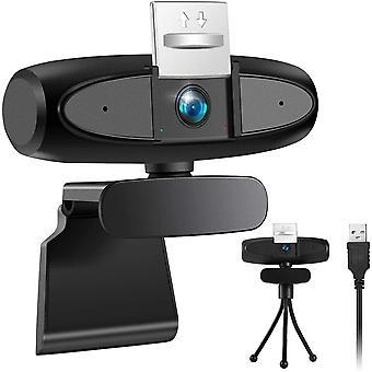 FengChun Webcam mit Mikrofon fr PC, Webcam 1080P Full HD PC Kamera Mit Stativ Set, USB Laptop Webcam