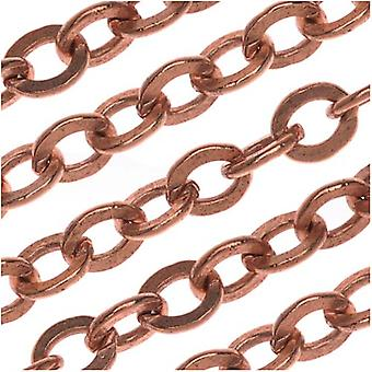 Nunn Design Antiqued Copper Plate Flat Chain, 3.6mm, par The Foot