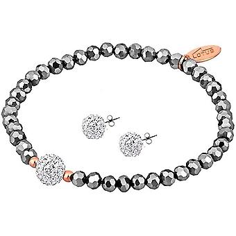 FengChun Silber LP1237-2/1 Ohrring- und Armband-Schmuckset
