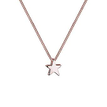 Elli halskæde kvinde stjerne stjerne stjerne sølv 925 forgyldt rose guld(1)
