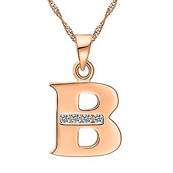 Necklace with pendant in the shape of a letter of the alphabet, for men and women. and base metal, color: Letter B rose gold., cod. Ref. 4058433104860