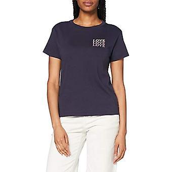 Marc O'Polo 4210051169 T-Shirt, Blå (Tyst hav 813), Liten kvinna