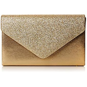 SwankySwans Womens Kelly glitter bag party Prom clutch bag, gold (Gold)), One size