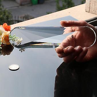 Jättiläinen auringonsieppaajan soikeat kiteet leikattu lasilamppu prisma