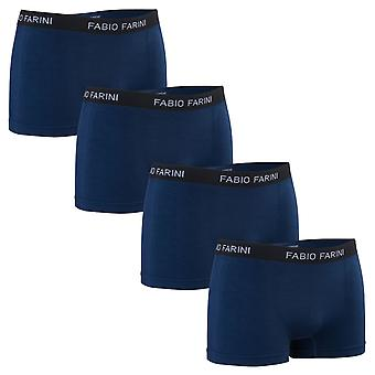 Pack of 4 Fabio Farini boxer shorts - seamless in many color combinations