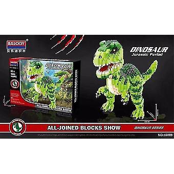 هدايا الاطفال 240mm كتل صغيرة الخضراء ديناصور بناء الكلاسيكية نموذج بارك الشكل المنزل متعة GameBlocks