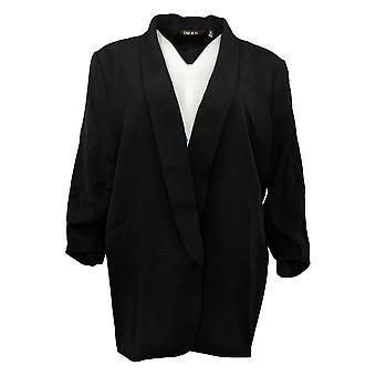 IMAN Global Chic Women's SzSuit Jacket/Blazer Everyday Blazer Black 740717