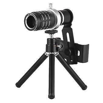 Optický zoom mobilní telefon teleobjektiv se stativem pro iphone samsung htc nokia sony