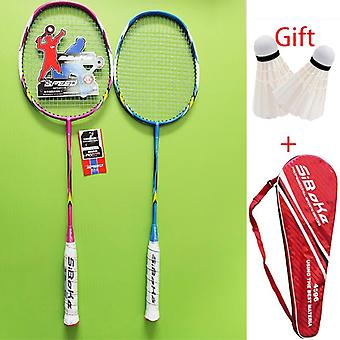 Professional Carbon Integrated Badminton Rackets Set With 2 Shuttlecock