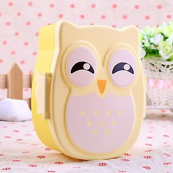 1050ml Owl Lunch Box Bento Food-safe Plastic Food Picnic Container Portable Box