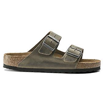 Birkenstock Arizona Soft Footbed Pelle Oliata Faded Khaki - Calzata Stretta
