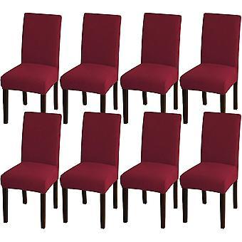 Ruokasalin tuoli kattaa venyttää tuolin kansia ruokasalin keittiötuoli kattaa irrotettavat tuolisuojan kannet ruokasaliin, hotelliin, viininpunaiseen