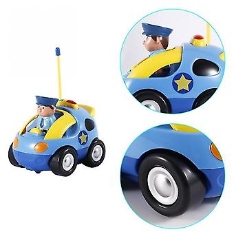 Kids Baby Toddlers Cartoon Police Rc Race Car Remote Control Car Toys Gift