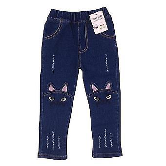 Girls Leggings Cartoon Cat Printed Jeans Pants