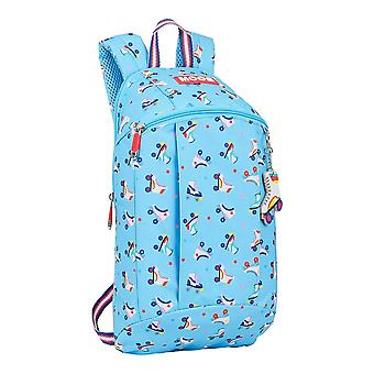 Casual Backpack Rollers Moos Multicolour Light Blue